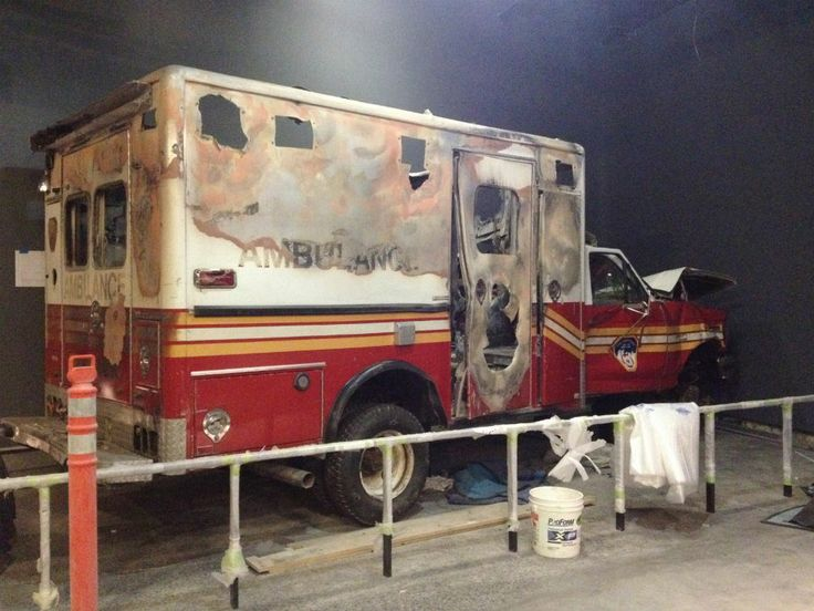 FDNY ambulance at the 9/11 Museum, opening in 2014.
