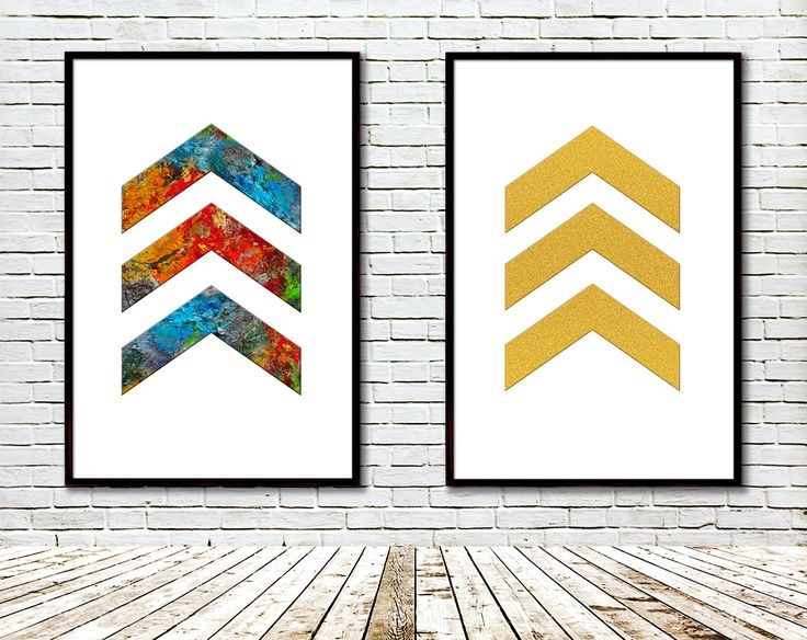 Chevron Printable, Modern art, Art print, Gold glitter, Artist palette, Arrow, Modern Geometric Wall Decor, Arrow Nursery, Digital by GecleeArtStudio on Etsy