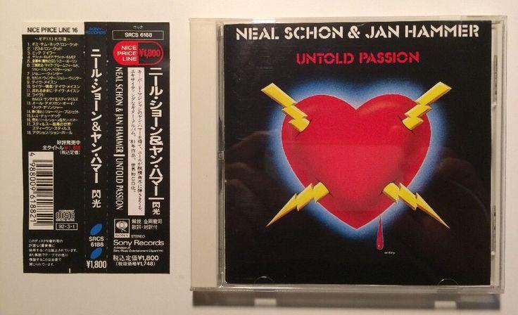 Neal Schon & Jan Hammer Untold Passion CD SRCS 6188 Japan w/OBI Journey #HardRock