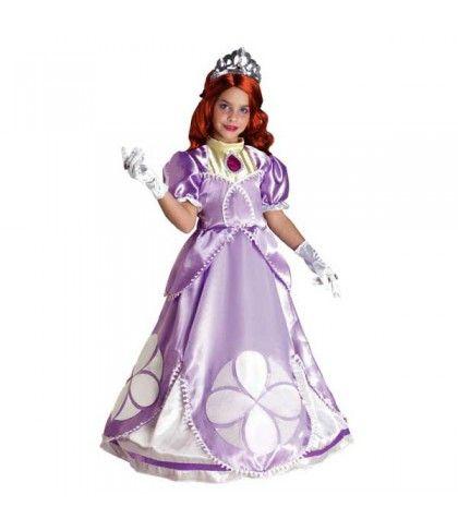 Μοβ Βασίλισσα Σοφία στολή για κορίτσια