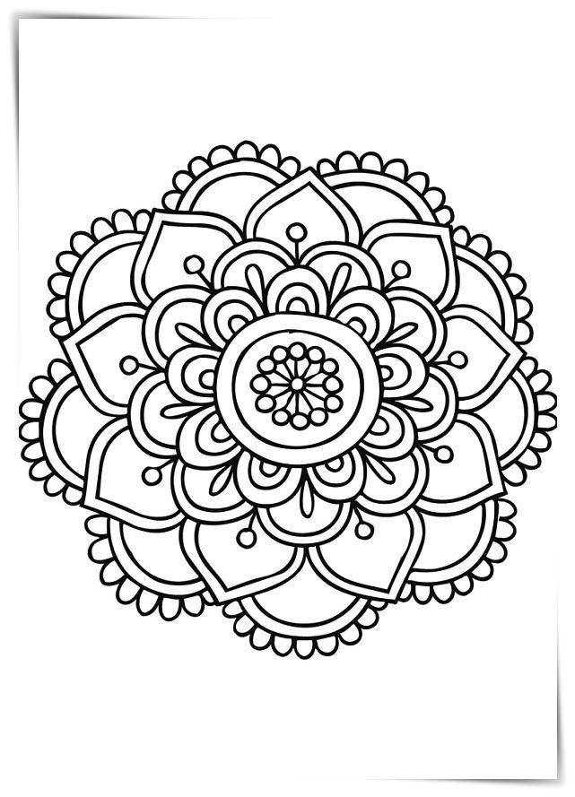 Los Más Lindos Dibujos De Mandalas Para Colorear Y Pintar A Todo Color Imágenes Prontas Par Imagenes De Mandalas Faciles Imagenes De Mandalas Mandalas Faciles