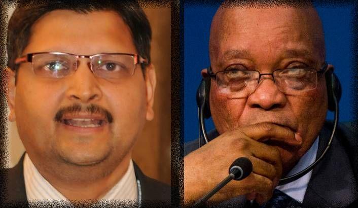 Photo: Atul Gupta, President Jacob Zuma (Sapa)