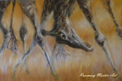 Giraffe, Mixed media. Wildlife Gallery - Art by Rosemary Martin