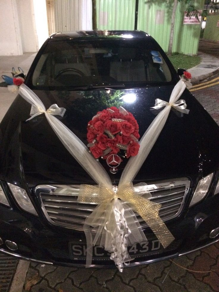 Bridal car decoration. For orders & enquiries please email ...