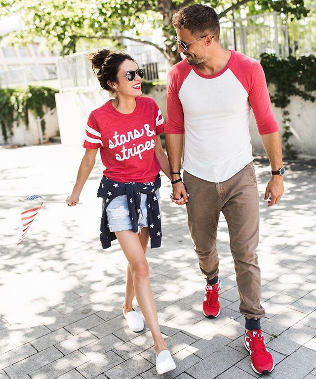 This is how we do matching 4th of July looks. #matchymatchy ILY COUTURE tees ilycouture.com