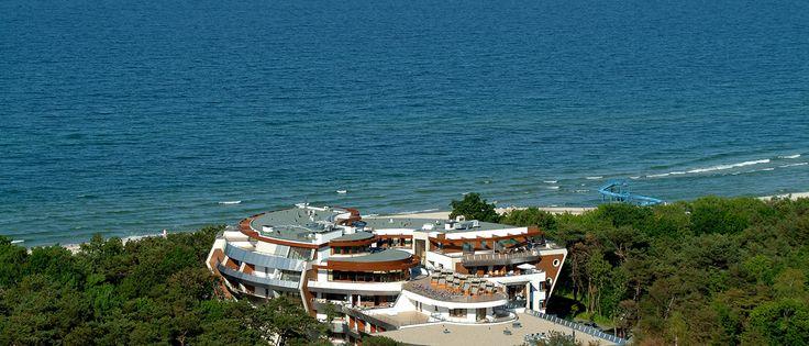 Hotel Spa **** nad morzem z basenem w Jastarni, luksusowe apartamenty   Dom Zdrojowy