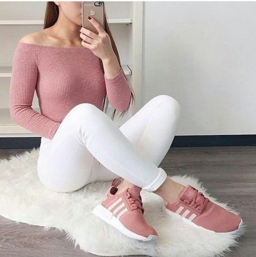 coral adidas shoes outfit 622749