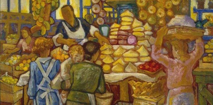 """""""Mercado"""", 1950. Carlos Maside"""