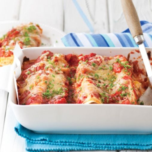 Pumpkin-and-corn cannelloni