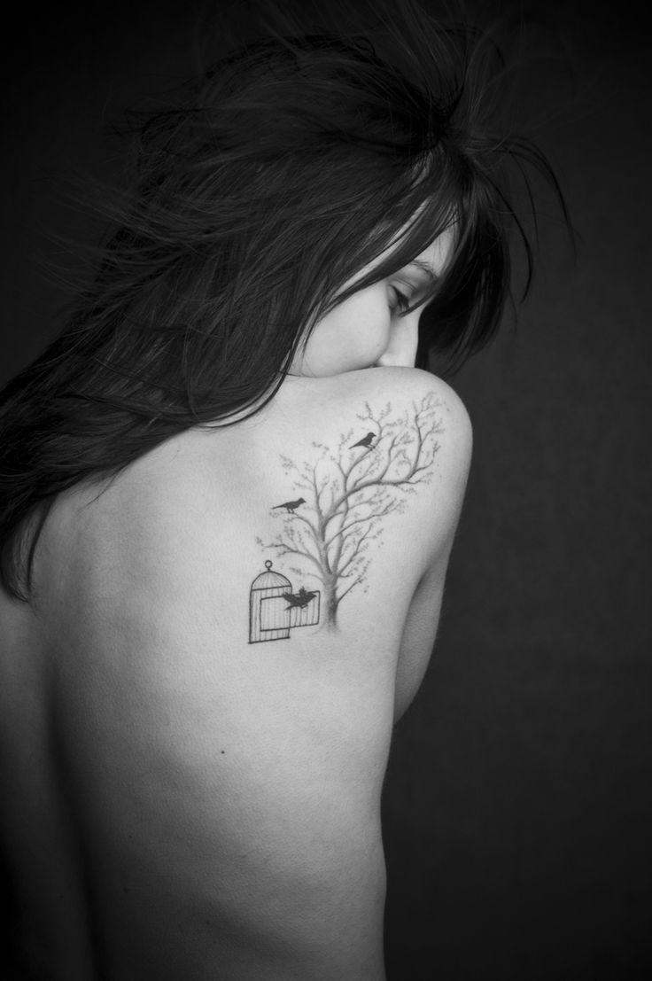 wonderful.: Tree Tattoos, Birds Tattoo'S, Mandala Tattoo'S, Tattoo'S Idea, Cage Tattoo'S, Birdcages, Trees Tattoo'S, Birds Cage, Tattoo'S Ink