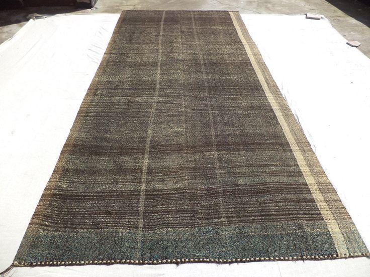 Long Large Turkish Kilim Rug,6,4