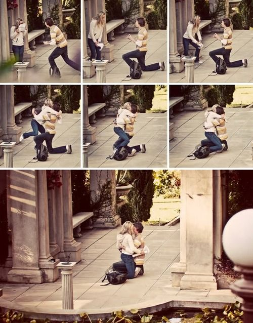 Note to Guys: Girls want pictures of this special moment. Get a secret photographer!   SO CUTE!!