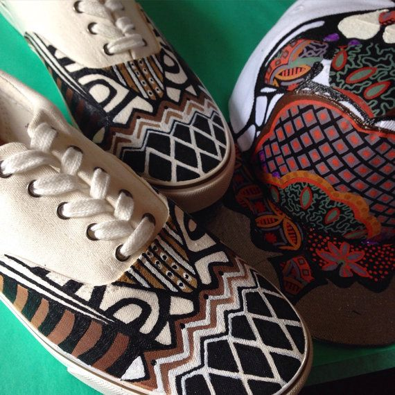 Men's Aztec Shoes by 2Woo on Etsy
