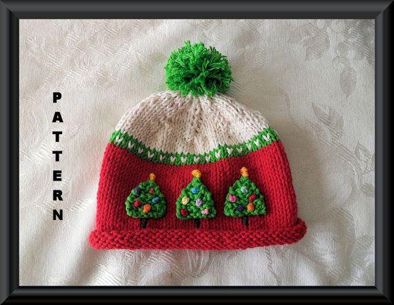 Knitted Hat Pattern Baby Hat Pattern Newborn Hat by CottonPickings