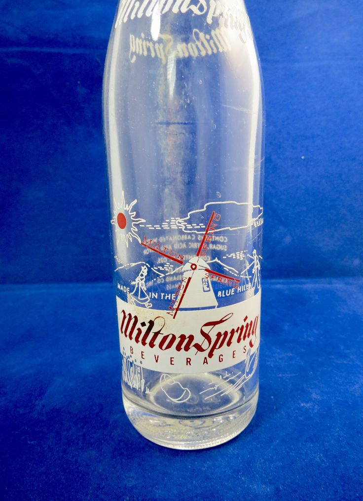 Vintage Milton Spring Glass Bottle - Charles C. Copeland Company,  Beverages Soda Bottle, Milton, Massachusetts, Rare Soda Pop Bottle by Duckwells on Etsy
