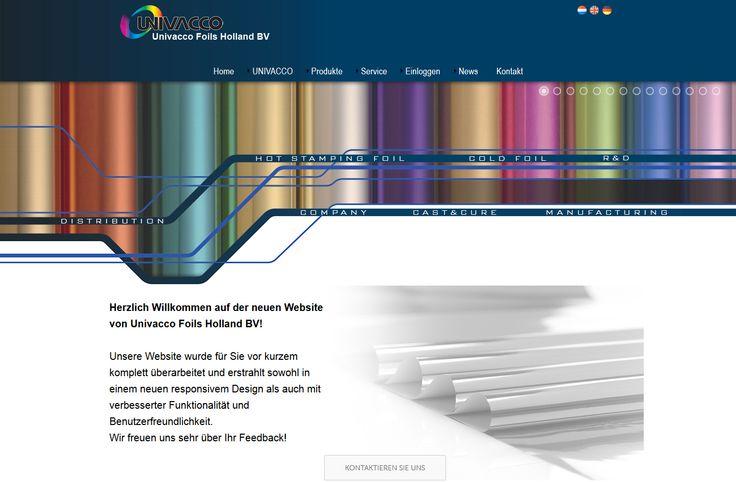 Website Univacco Foils Holland