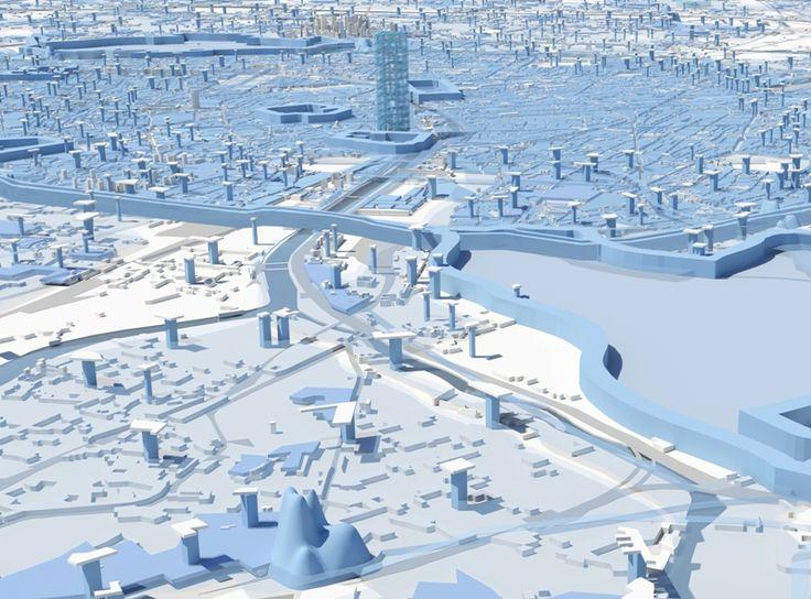 MVRDV avec ACS + AAF : Compacter Paris. L'équipe hollandaise de Winy Maas préconise un recentrage de la capitale mais laisse le jeu ouvert. Son programme «City Calculator» présente, sous la forme d'une démo , plusieurs schémas d'optimisation de l'urbanisme. Le Grand Paris «peut devenir une des villes les plus qualitatives, vertes et compactes au monde», si elle veut s'en donner les moyens. Pour se faire, les Hollandais en appellent à l'adoption du «Big Intensification Act».