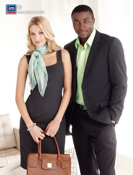 Nice his and hers look, like the scarf and dress combo