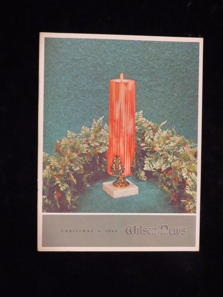 Vtg Xmas 1966 Wilson Certified News Meat Packing plant Christian stories Candles