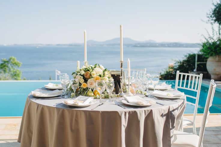 #corfu #wedding #elopement #symbolic #ceremony #greece #island #destination #yellow #sea #pool #villa