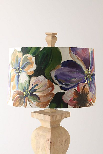 hand painted lamp shades | anthropologie
