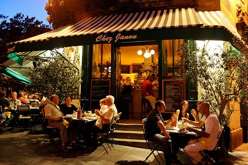 This restaurant in the marais. It was 1 block from our 1st apt. Kids loved it too!