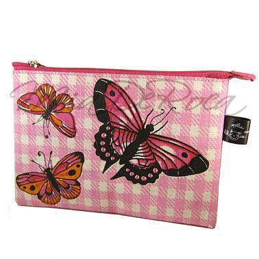 Rosa Pochette mit Schmetterlingen Apollonia - MiaDeRoca