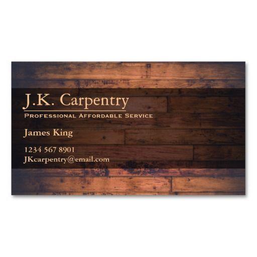 305 best Carpenter Business Cards images on Pinterest