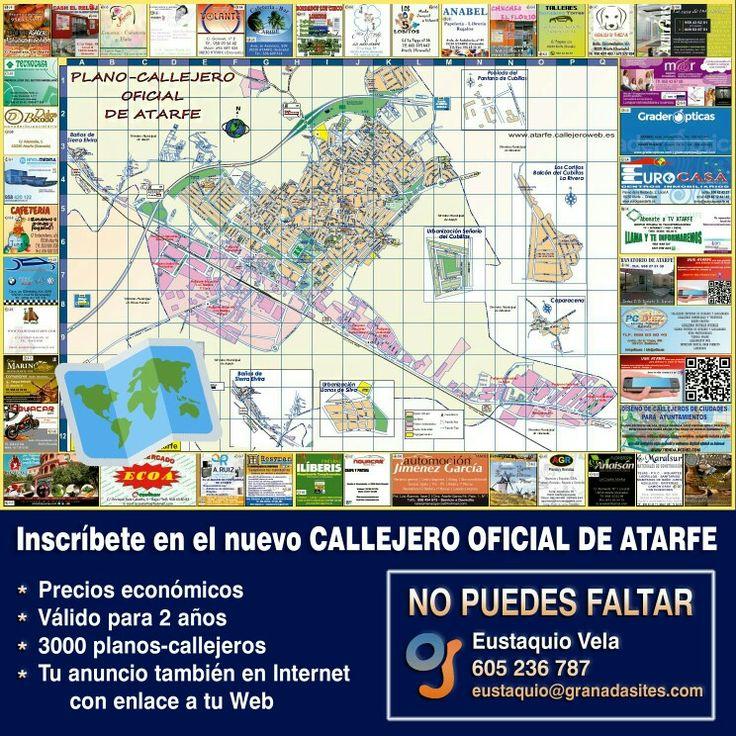 Ya puedes inscribir tu #comercio en el nuevo mapa - callejero oficial de #Atarfe Infórmate ya, tienes que aparecer en él.