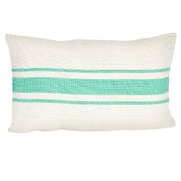 Striped Design Jute Throw Pillow