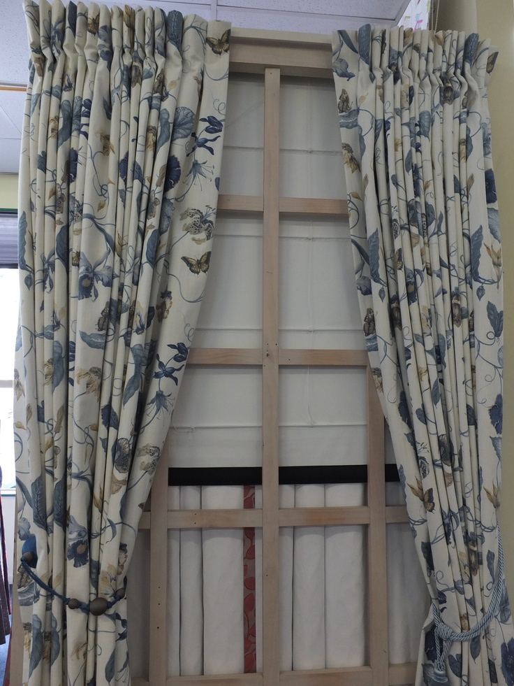 Inverted pleat heading style for curtains.