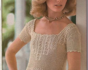 Pattern for vintage crochet top