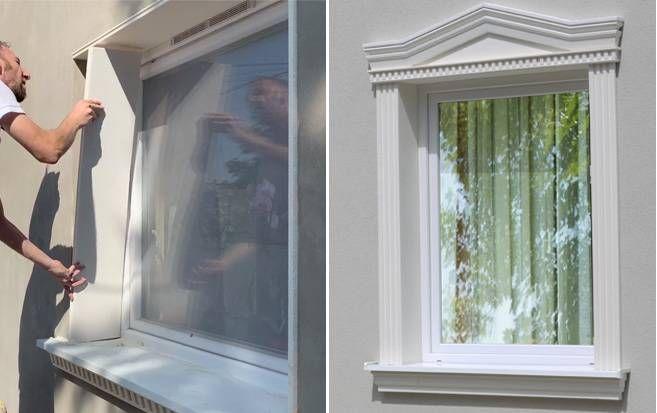 Stossfeste Laibungsprofile Fur Die Fensterumrandung Fensterrahmen Styroporstuck Fensterumrandung Fensterlaibung Fenster