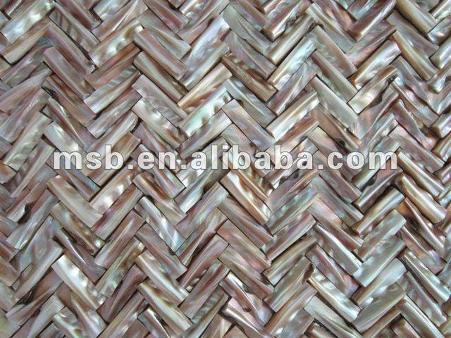 natuurlijke iriserende visgraat chinese zoetwater parelmoer( mop) shell mozaïek tegels in golfpatroon-inmozaïeken van Bouw& vastgoed op m.dutch.alibaba.com.