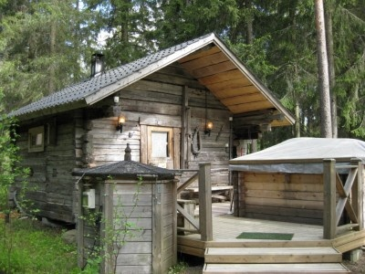 lovely sauna owned by Sukari family, at TEUVA