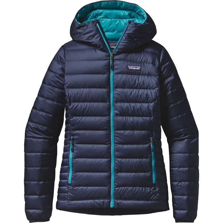 Patagonia - Down Sweater Full-Zip Hooded Jacket - Women's - Navy Blue/Epic Blue
