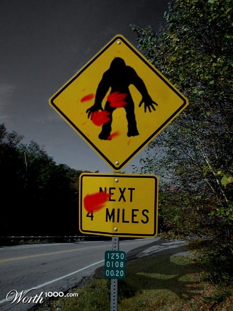Bigfoot Ahead - Worth1000 Contests