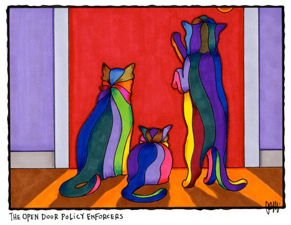 The Open Door Policy Enforcers by AEMgallery on Etsy, $29.00