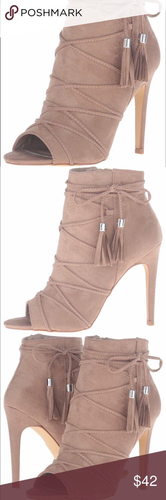 Steve Madden Bootie Brand New Nude Peep Toe Bootie. Zip up detail. Size 8.5 Steve Madden Shoes Heels