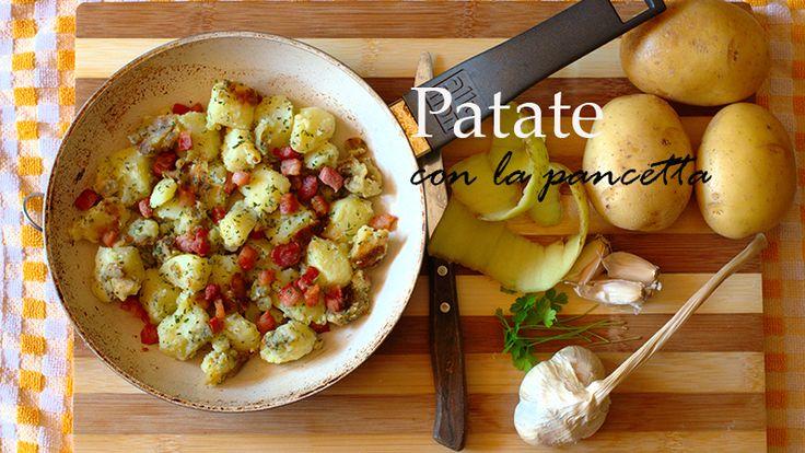 Patate con la pancetta blog evidenza