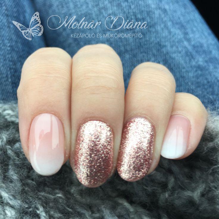 #nail #nailart #ombre #rosegold #fulldiamond CN FD 3