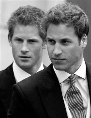 Brothers - Prince William and Prince Harry - Princess Diana would be so proud of her boys :-)