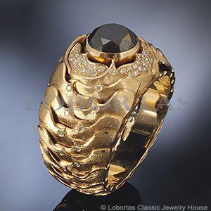 Gold diamond ring for man with 2.77 ct. black diamond :: Men's Jewelry & Jewels :: Avatar
