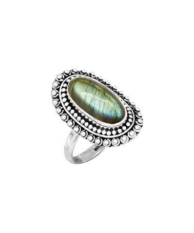 Look at this #zulilyfind! Labradorite & Sterling Silver Filigree Ring #zulilyfinds