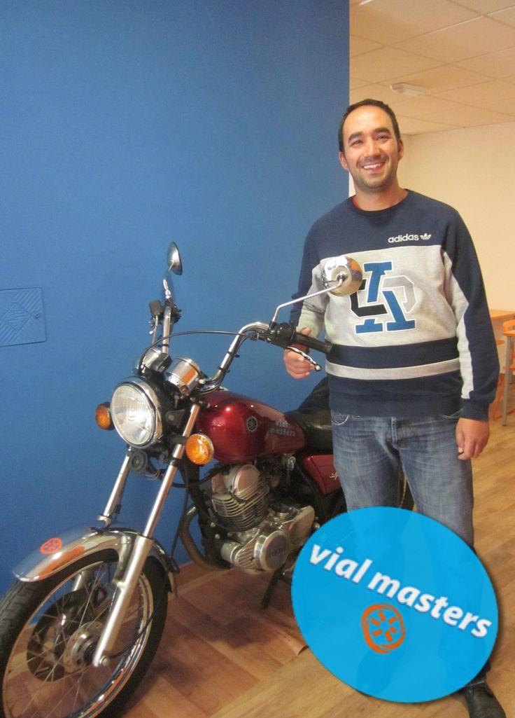 Antonio se sacó el carnet de moto en Autoescuelas Vial Masters. ¡Felicidades Antonio! ¡Disfrútalo!  Más en http://vialmasters.es.