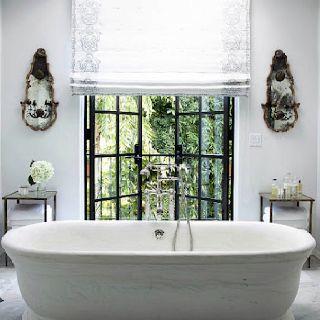 French doors, freestanding bath