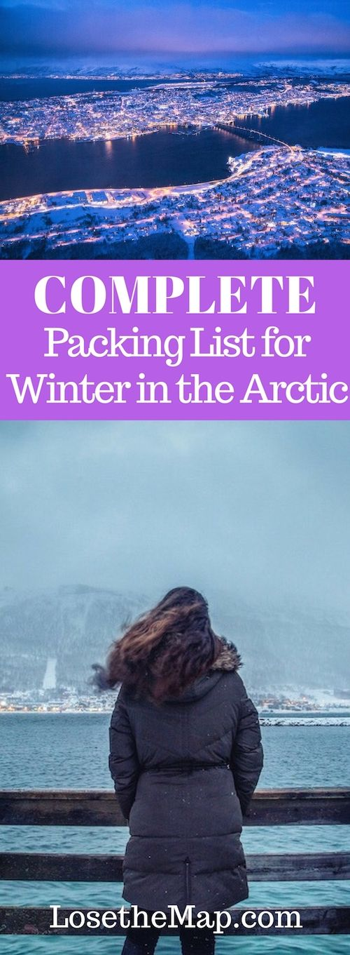 Visiting the Arctic Circle in winter is an incredible experience - but if you don't have the right clothing and cold weather gear, your trip can get really bad really fast. This complete winter Arctic packing list will help you figure out what you need, and what you don't to have the best Arctic adventure.