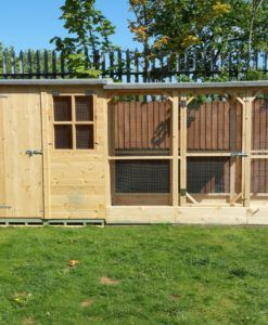 Large Apex rabbit shed with shelterd run
