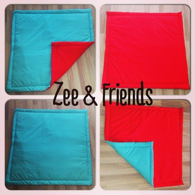 They are double sided with some nice padding inside! #zeeandfriends #teepee #tummytime