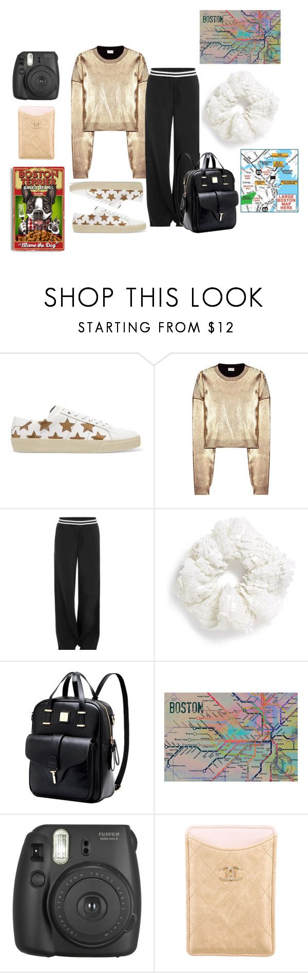 """""""Walking Tour, Boston"""" by christined1960 ❤ liked on Polyvore featuring Yves Saint Laurent, Puma, Topshop, Retrò, Fujifilm, Chanel and ArteHouse"""